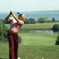 President Ford on the golf course