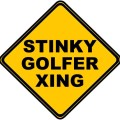 stinkygolfercrossing