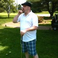 Stinky Golfer Chris on the golf course (photo by Greg D'Andrea)