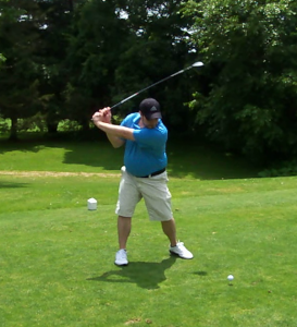 One of few times I teed-it-up this season. Notice the gut, which is 8 pounds less now.