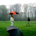 golf in the rain