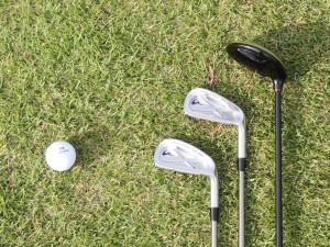 3 golf clubs