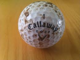 dirty golf ball