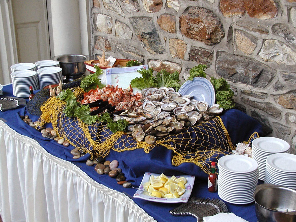 golf tournament raw bar