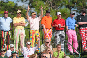Golf Fan Dressed Like Golfer