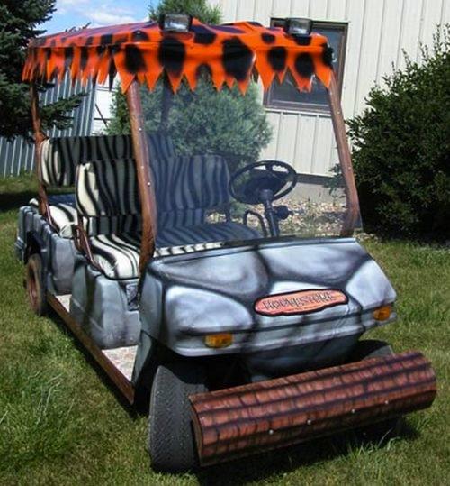 Golfcart Flintstones