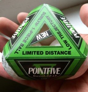 Pointfive adds a twist to the golf ball sleeve (photo by Greg D'Andrea)