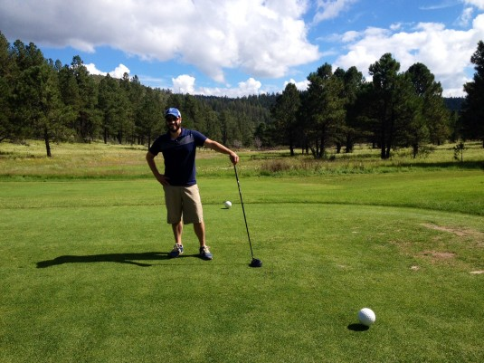 Stinky Golfer Greg at Inn of the Mountain Gods in September 2014.