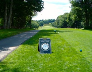 clock on the golf course