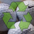 Recycled golf balls