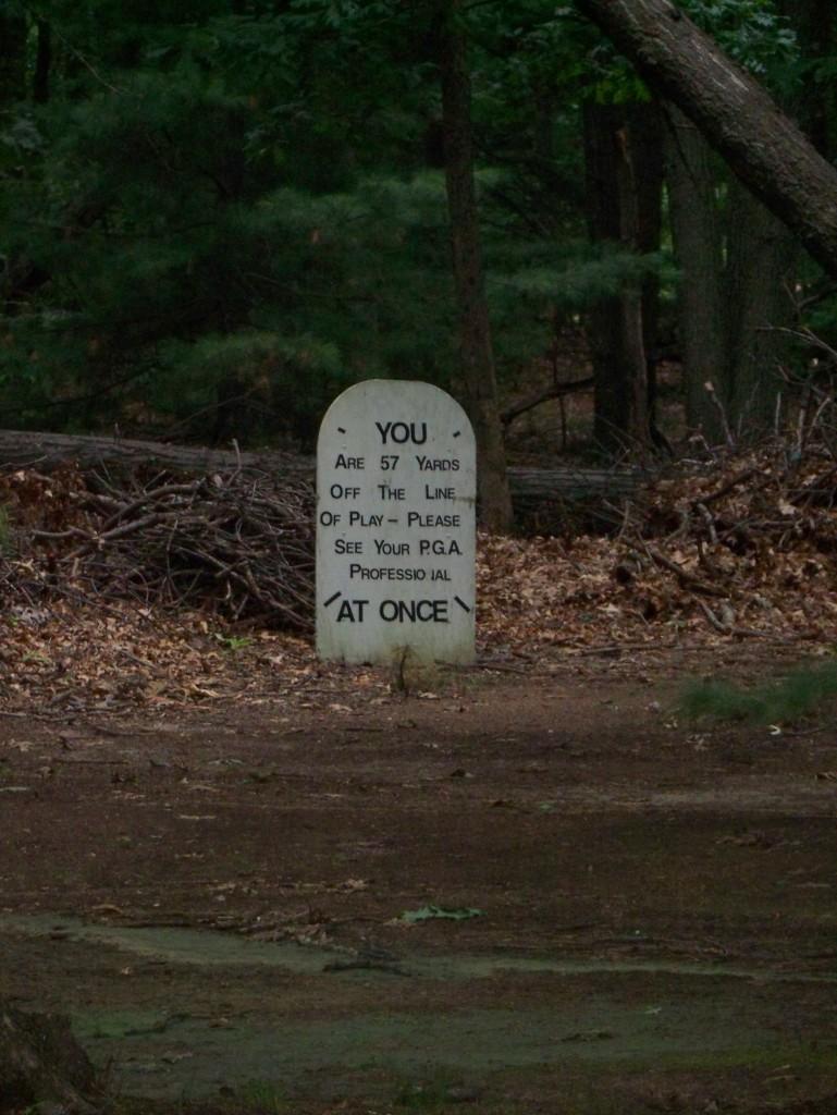 tomb stone golfer