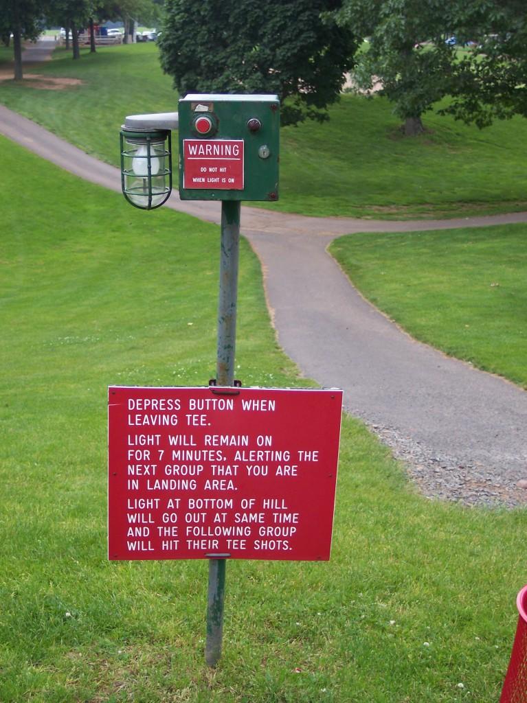 Golf hole instructions