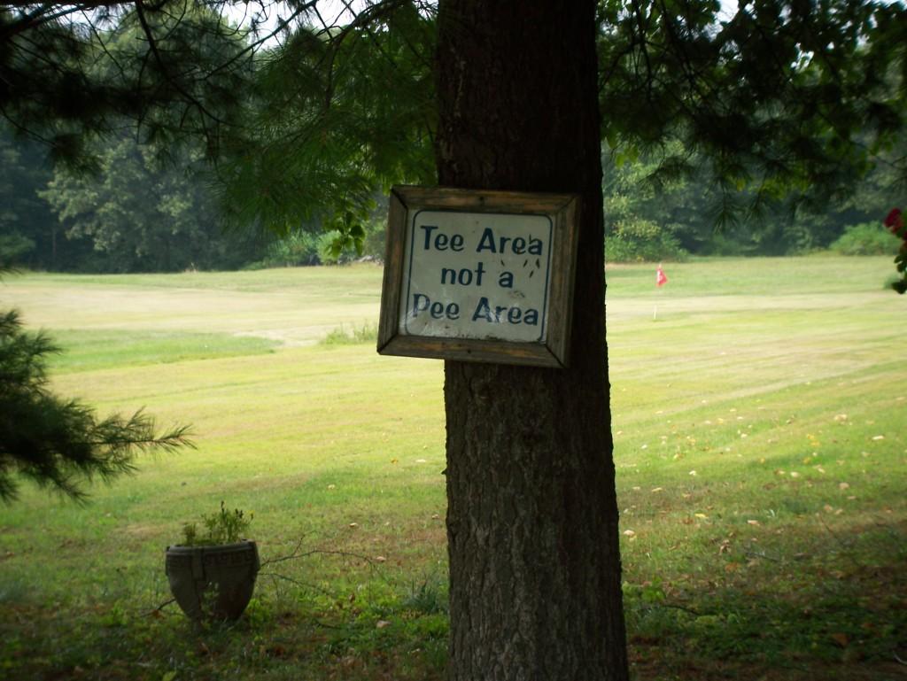 Tee Area Not A Pee Area
