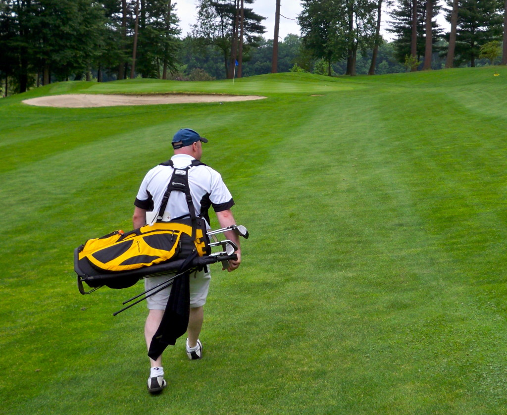 Walking the golf course (photo by Greg D'Andrea)
